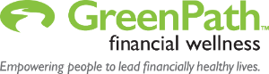 GreenPath Financial Wellness logo. Empowering people to lead financially healthy lives.